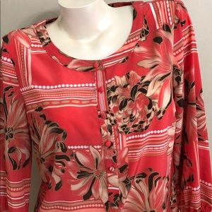 JM COLLECTION SIZE 8 coral tunic